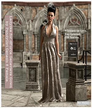 Ladylike for dForce Genevieve Gown for Genesis 8 Female(s) 3D Figure Assets nelmi