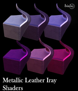 Metallic Leather Shaders 3D Figure Assets biala