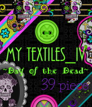 My Textiles IV_Day of the Dead_MR 2D Graphics Merchant Resources DivabugDesigns