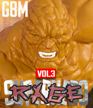 SuperHero Rage for G8M Volume 3 3D Figure Assets GriffinFX