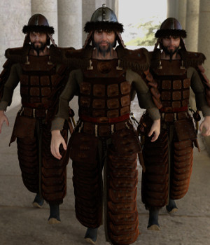 dForce Mongol Armor for Genesis 8 Male 3D Figure Assets Deacon215