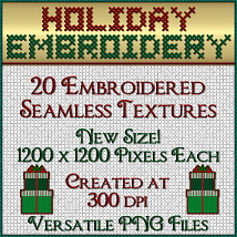 Holiday Embroidery Seamless Textures image 1
