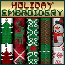 Holiday Embroidery Seamless Textures image 2
