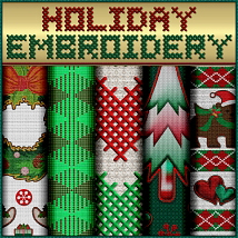 Holiday Embroidery Seamless Textures image 3