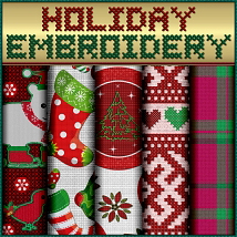 Holiday Embroidery Seamless Textures image 4