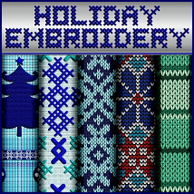 Holiday Embroidery Seamless Textures image 5
