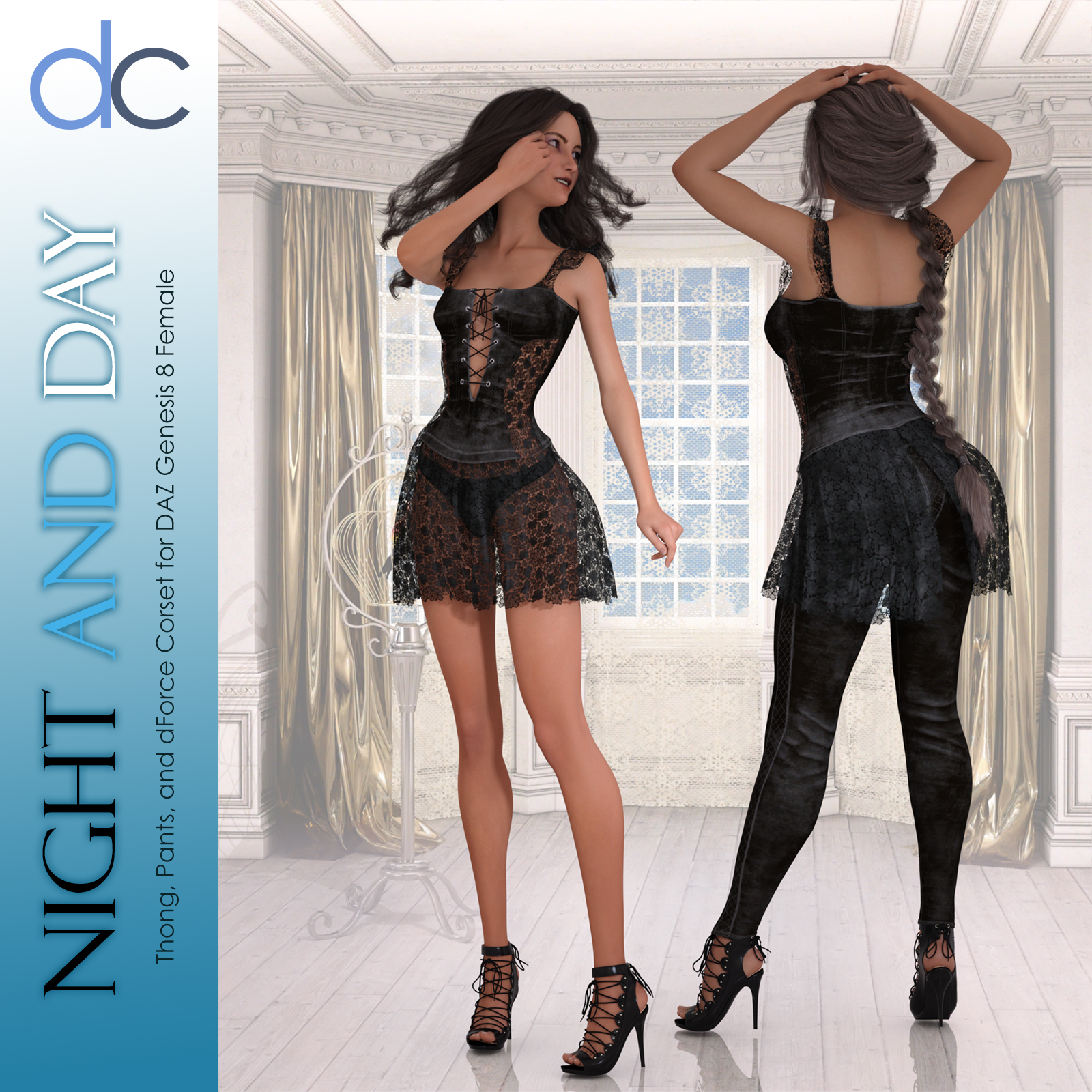 DC-Night and Day for DAZ G8 Female by Deecey