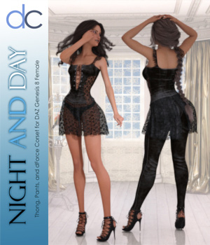 DC-Night and Day for DAZ G8 Female 3D Figure Assets Deecey