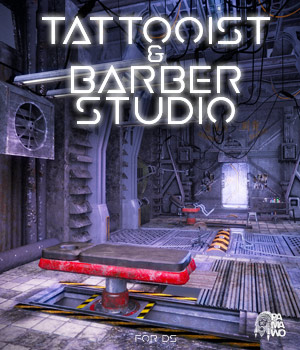 Tattooist & Barber Studio DS 3D Models pamawo