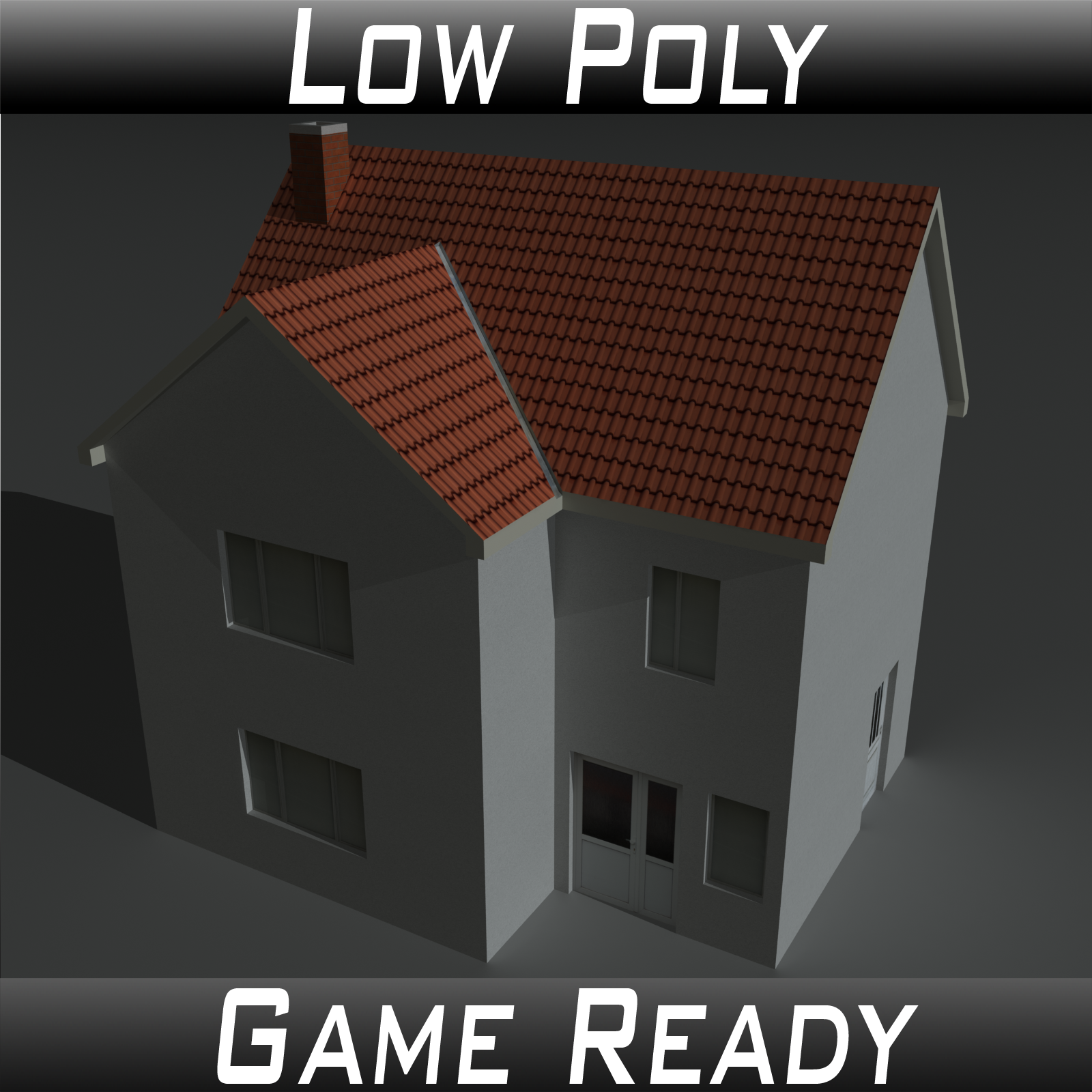 Low Poly House 1 - Extended License by 3dlands