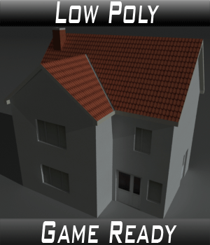 Low Poly House 1 - Extended License 3D Game Models : OBJ : FBX 3D Models Extended Licenses 3dlands