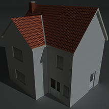 Low Poly House 1 - Extended License image 2