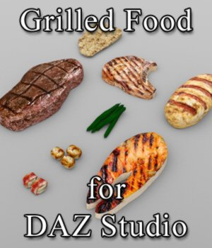 Grilled Food (for DAZ Studio) 3D Models VanishingPoint