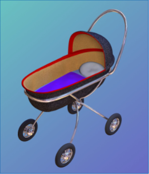 Baby Buggy 3D object 3D Models uncle808us