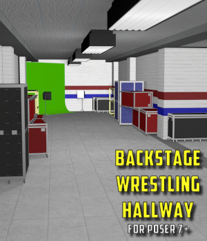 Backstage Wrestling Hallway for Poser 7+ 3D Models DexPac