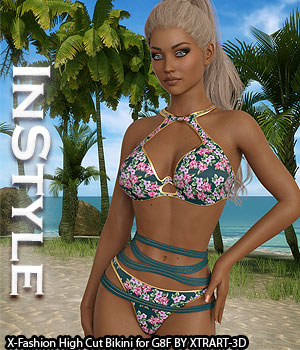 InStyle - X-Fashion High Cut Bikini for Genesis 8 Female(s) 3D Figure Assets -Valkyrie-