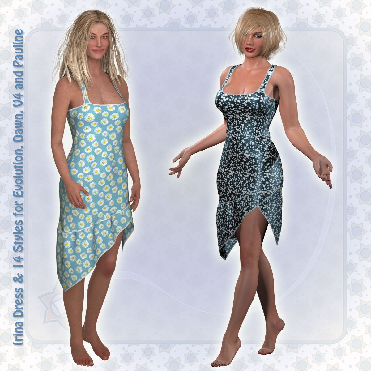 Irina Dress and 14 Styles for Project Evolution, V4, Dawn and Pauline