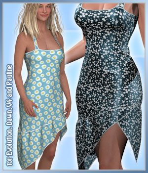 Irina Dress and 14 Styles for Project Evolution, V4, Dawn and Pauline 3D Figure Assets karanta