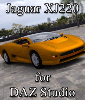 Jaguar XJ 220 - for DAZ Studio  3D Models Digimation_ModelBank