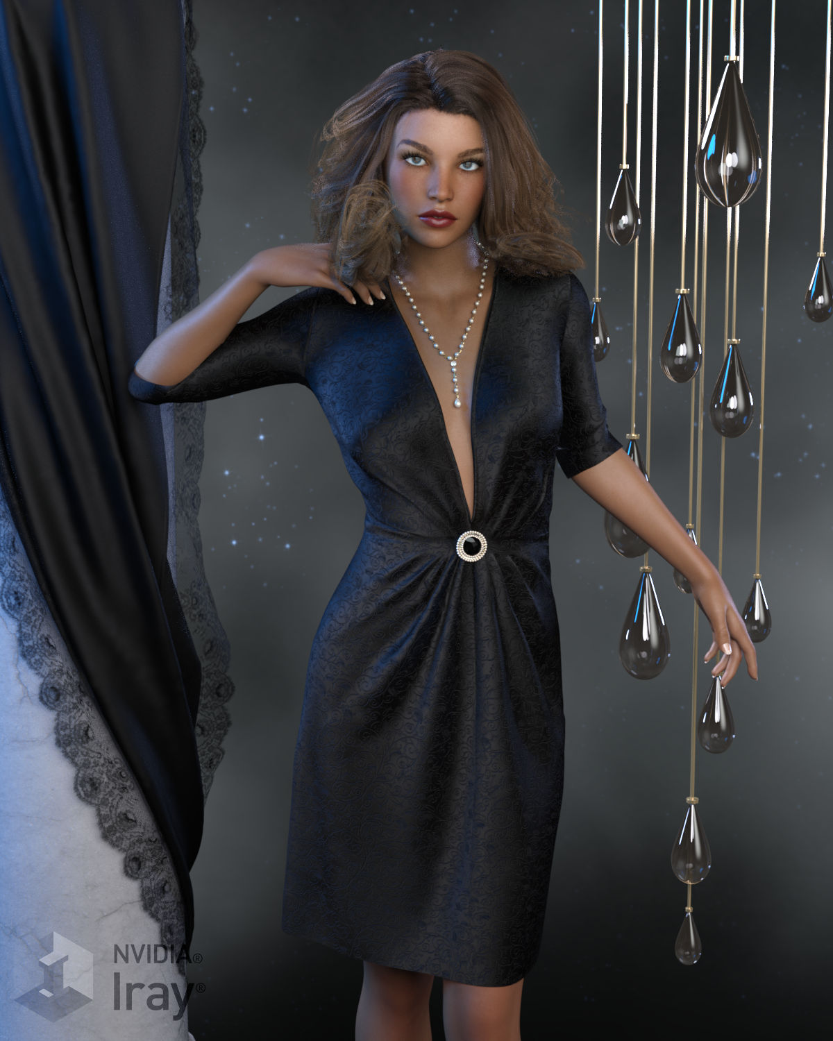 dForce Claire Outfit for Genesis 8 Females