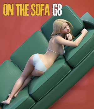 On The Sofa - Poses for Genesis 8 and Victoria 8 3D Figure Assets 3D Software : Poser : Daz Studio hameleon