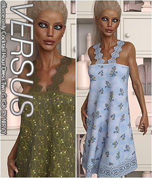 VERSUS - dforce only Cocktail Hour Dress Two G3G8 3D Figure Assets Anagord