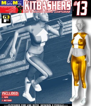 Kitbashers 013 MMG3F 3D Figure Assets MightyMite