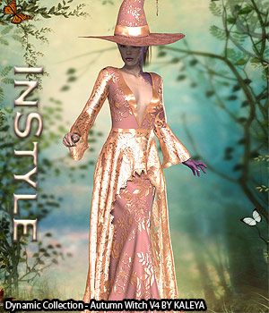InStyle - Dynamic Collection - Autumn Witch V4 3D Figure Assets -Valkyrie-