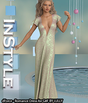InStyle - dForce - Romance Dress for G8F 3D Figure Assets -Valkyrie-