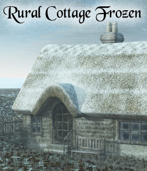 Rural Cottage Frozen 3D Models RAGraphicDesign