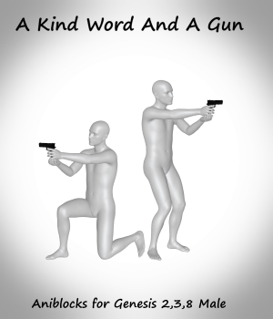 A Kind Word And A Gun 3D Figure Assets LifeMotion