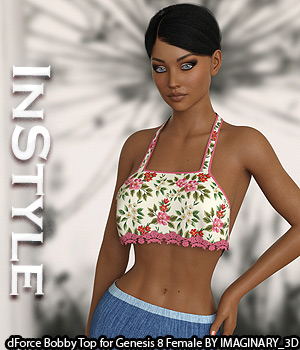 InStyle - dForce Bobby Top for Genesis 8 Female 3D Figure Assets -Valkyrie-