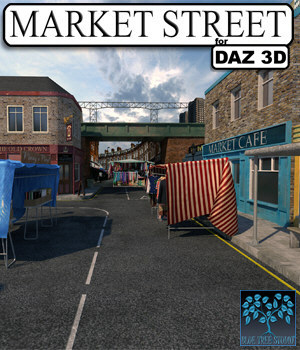 Market Street for DAZ 3D Models BlueTreeStudio