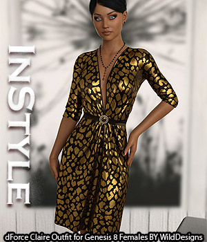 InStyle - dForce Claire Outfit for Genesis 8 Females 3D Figure Assets -Valkyrie-