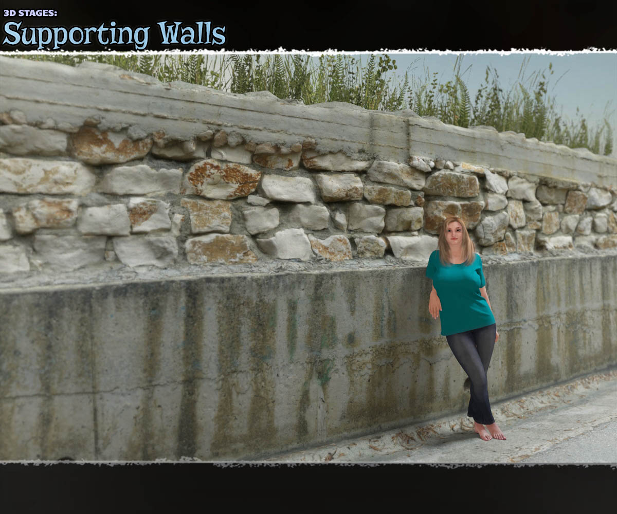 3D Stages: Supporting Walls by ShaaraMuse3D