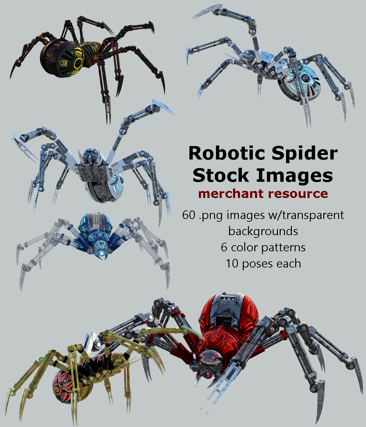 Robotic Spider Stock Image Pack_01
