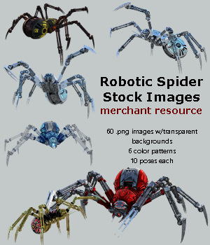 Robotic Spider Stock Image Pack_01 2D Graphics Merchant Resources Shadowhawk1973