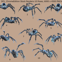 Robotic Spider Stock Image Pack_01 image 2