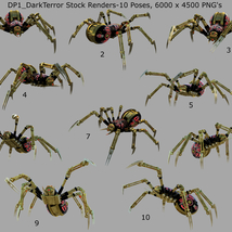 Robotic Spider Stock Image Pack_01 image 3