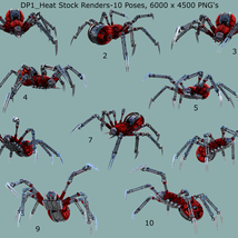 Robotic Spider Stock Image Pack_01 image 4