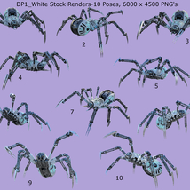 Robotic Spider Stock Image Pack_01 image 6