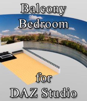 Balcony Bathroom - for DAZ Studio  3D Models VanishingPoint