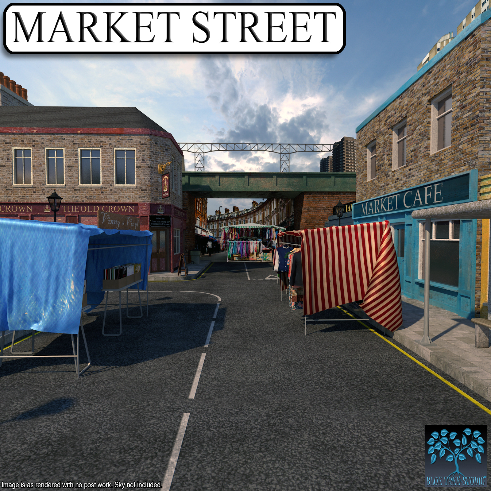 Market Street for Poser by BlueTreeStudio
