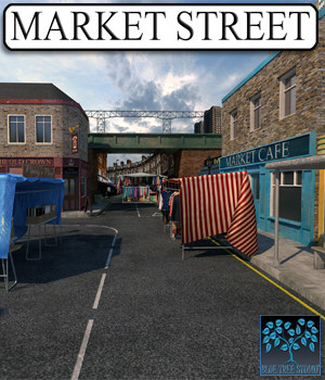 Market Street for Poser 3D Models BlueTreeStudio