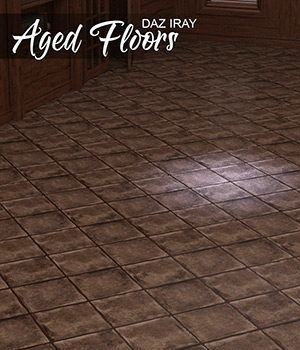 DAZ Iray - Aged Floors 3D Figure Assets Merchant Resources Atenais