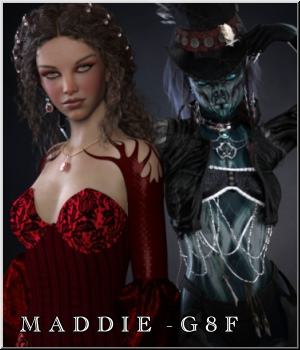 Maddie- G8F - Dark and Light 3D Figure Assets LUNA3D