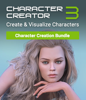 Character Creator 3 - Character Creation Bundle Reallusion Software - CC3 - iClone 3D Software : Poser : Daz Studio Reallusion