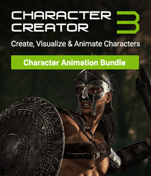 Character Creator 3 - Character Animation Bundle Reallusion Software - CC3 - iClone 3D Software : Poser : Daz Studio Reallusion