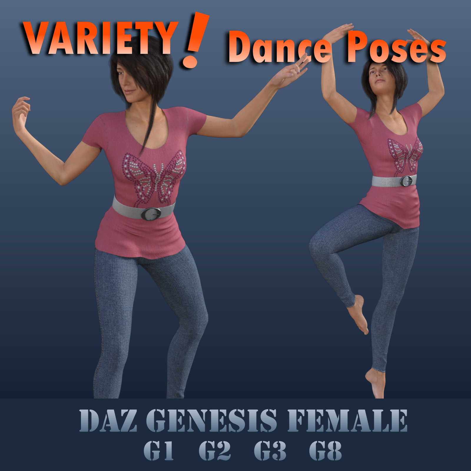 VARIETY! Dance Poses for Female Geez - G1F, G2F, G3F, G8F