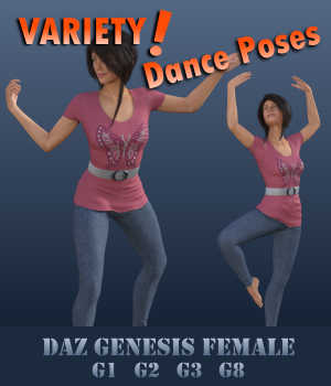 VARIETY! Dance Poses for Female Geez - G1F, G2F, G3F, G8F 3D Figure Assets Winterbrose